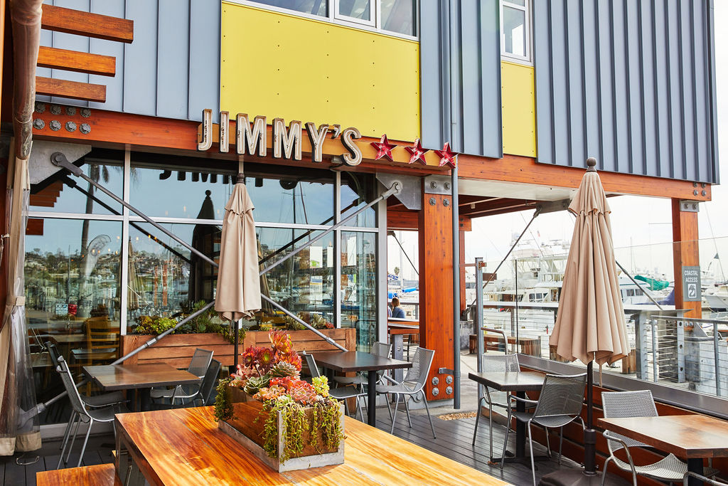 Jimmy's San Diego is located in Point Loma and offers a marina view patio area